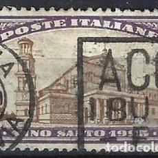 Sellos: ITALIA 1924 - AÑO SANTO, SAN PAOLO - USADO. Lote 288457113