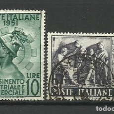 Sellos: ITALIA - - -1951- USADO -SERIE COMPLETA). Lote 288459908