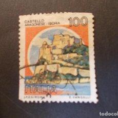 Sellos: SELLO ITALIA. CASTILLOS CASTELLO ARAGONESE - ICHIA 100L 1983. Lote 291252913