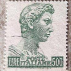 Sellos: SELLO POSTAL ITALIA 1957, 500 LIRA. Lote 292077373