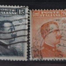 Sellos: 3 SELLOS ITALIA. REY VICTOR MANUEL III AÑO 1909. Lote 294367888