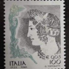 Sellos: ITALIA 2002***MNH MUJERES EN EL ARTE (1998-2004). YT:IT 2534,. Lote 294989193