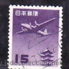 Sellos: JAPON AEREO 22A USADA, AVION, PAGODA HORYUJI. Lote 278868943