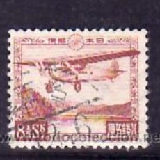 Sellos: JAPON AEREO 3 USADA, AVION SOBREVOLANDO EL LAGO ASHINO,. Lote 11797917
