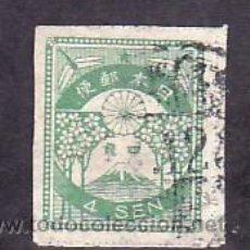 Sellos: JAPON 179 USADA, FLORES, FLOR DEL CEREZO Y MONTE FUJI, . Lote 10815824