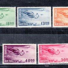 Sellos: RYU-KYU A 4/8 CON CHARNELA, DIOSAS EN VUELO . Lote 25370834