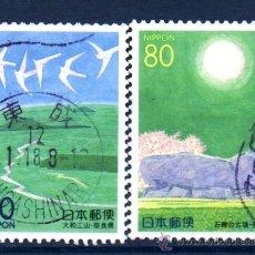 Sellos: JAPÓN.- YVERT Nº 2675/6, SERIE COMPLETA EN USADO (JAP-345). Lote 32743432