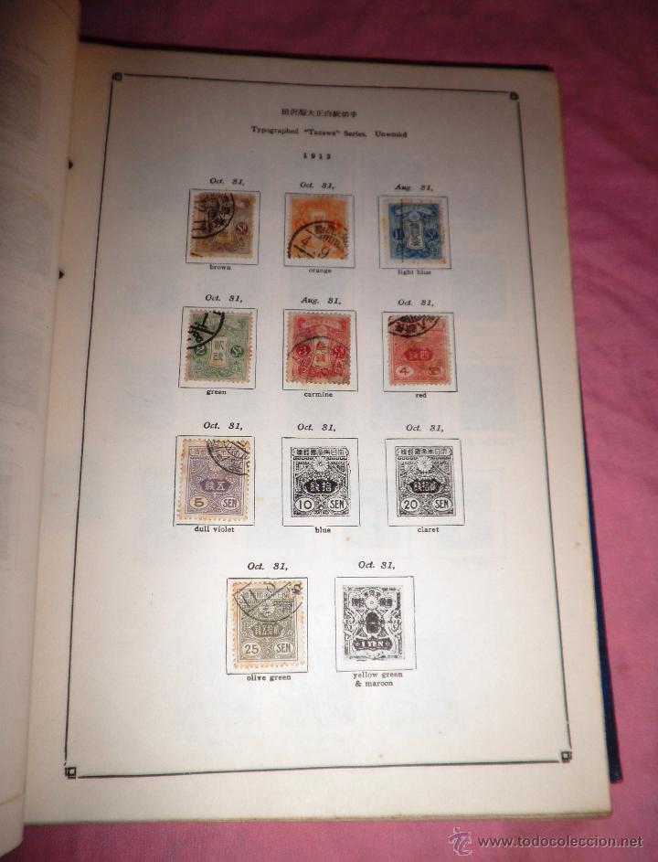 Sellos: EXCEPCIONAL ANTIGUO ALBUM DE SELLOS JAPONES - AÑOS 1870-1956 - MUY RARO. - Foto 3 - 41257851