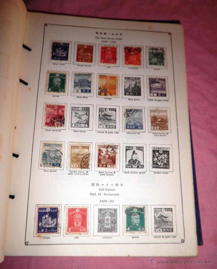 Sellos: EXCEPCIONAL ANTIGUO ALBUM DE SELLOS JAPONES - AÑOS 1870-1956 - MUY RARO. - Foto 5 - 41257851