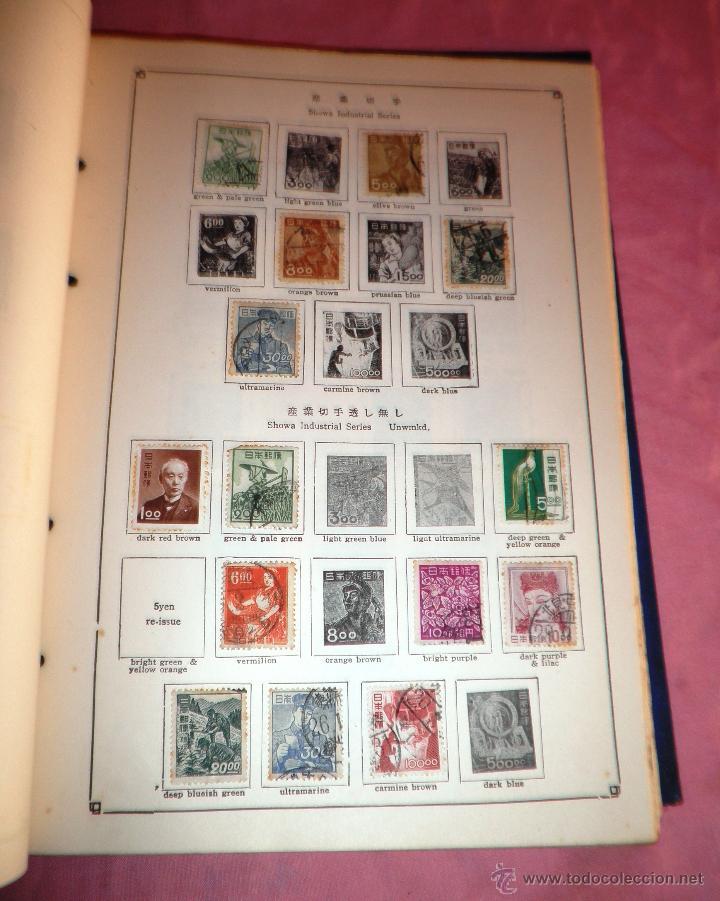 Sellos: EXCEPCIONAL ANTIGUO ALBUM DE SELLOS JAPONES - AÑOS 1870-1956 - MUY RARO. - Foto 6 - 41257851