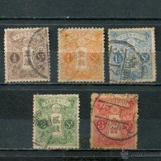 Sellos: JAPON JAPAN SELLOS PAISES EXOTICOS RAROS ANTIGUOS AÑO 1914 CON FILIGRANA. Lote 42930363