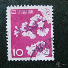 Sellos: JAPON 1961, CEREZO EN FLOR, YVERT 677. Lote 47018782