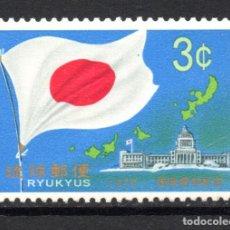 Sellos: RYUKYUS 195** - AÑO 1970 - REPRESENTACION DE OKINAWA EN LA DIETA JAPONESA. Lote 218346671