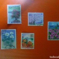 Sellos: LOTE DE 5 SELLOS DE JAPON (FLORA)..SIN VALORAR /CLASIFICAR *AÑOS 90/2000*..USADOS*. Lote 95778203