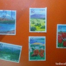 Sellos: LOTE DE 5 SELLOS DE JAPON (PAISAJES)..SIN VALORAR /CLASIFICAR *AÑOS 90/2000*..USADOS*. Lote 95778595