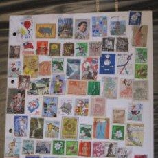 Sellos: FILATELIA - HOJA POR LAS DOS CARAS / 165 SELLOS ANTIGUOS DE JAPON.. Lote 103726459