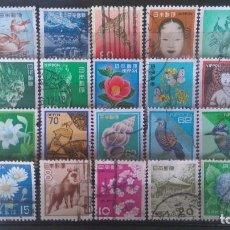 Sellos: JAPON 28 SELLOS DIFERENTES DE PEQUEÑO FORMATO. Lote 109441379