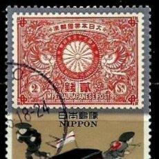 Sellos: JAPON MI 2284 HISTORIA POSTAL: BODA PLATA EMPERADOR Y TRANSPORTE MANUAL (USADO). Lote 132338442
