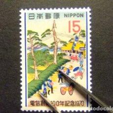 Sellos: JAPON 1970 CENTENAIRE DU TÉLÉGRAPHE AU JAPON YVERT 994 ** MNH . Lote 147767558