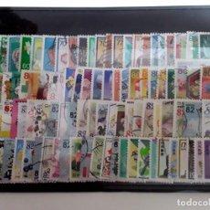 Sellos: 100 SELLOS DIFERENTES FORMATO P JAPÓN. Lote 156627198