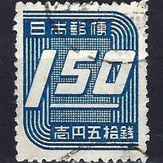 Francobolli: 1948 JAPÓN - CULTURA JAPONESA - CIFRAS 1,50 YVERT 370 SAKURA 308 - USADO. Lote 182567703