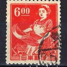 Francobolli: 1948 JAPÓN - TRABAJO - IMPRESORA - CON MARCA DE AGUA YVERT 396 SAKURA 316 - USADO. Lote 182568050