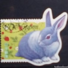 Sellos: JAPON CONEJO SELLO USADO. Lote 183598551