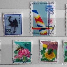 Sellos: JAPÓN, LOTE DE 8 SELLOS, DIFERENTES USADOS. Lote 184237180