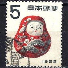Francobolli: 1954-1955 JAPÓN AÑO NUEVO - JUGUETE KAGA OKIGARI. - USADO. Lote 184907937