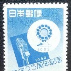 Sellos: 1950. JAPÓN-RYU KYU. 445. 25 AÑOS DE LA RADIO. MICRÓFONOS ANTIGUO Y MODERNO. SERIE COMPLETA. NUEVO.. Lote 191273176