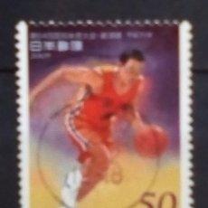 Timbres: JAPON RECIENTE BALONCESTO SELLO USADO. Lote 191587195