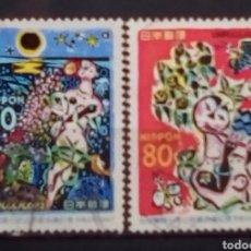 Sellos: JAPON FIESTAS POPULARES SERIE DE SELLOS USADOS. Lote 194287681