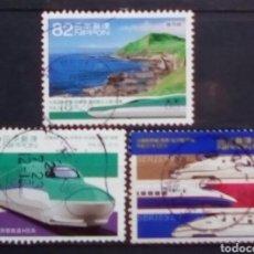 Sellos: JAPON MUY RECIENTE TRENES DE ALTA VELOCIDAD. Lote 194561396
