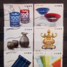 Sellos: JAPÓN MUY RECIENTE ARTESANIA EN LA MESA SERIE DE SELLOS USADOS. Lote 194561896