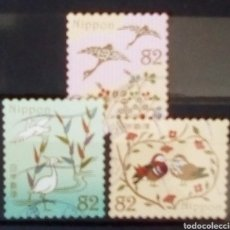Sellos: JAPON RECIENTE AVES SERIE DE SELLOS USADOS. Lote 195273346