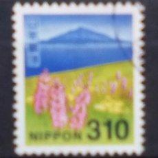 Sellos: JAPON RECIENTE NATURALEZA SELLO USADO FACIAL ALTO. Lote 195277242