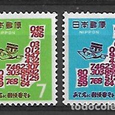 Sellos: JAPON SERIE Nº 907/08 DE 1968 NUEVO . Lote 195985915