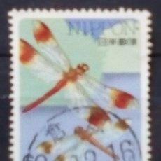 Sellos: JAPON LIBÉLULA SELLO USADO. Lote 200146948