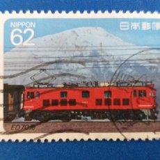 Sellos: SELLO DE JAPON. USADO. Nº YVERT 1795. AÑO 1990. LOCOMOTORAS ELECTRICAS.. Lote 206773521