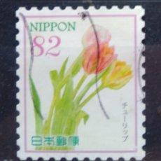 Sellos: JAPÓN RECIENTE FLORES SELLO USADO. Lote 213388795