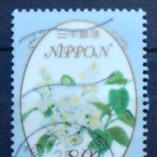 Sellos: JAPÓN FLORES SELLO USADO. Lote 213480112