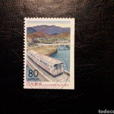 Sellos: JAPÓN YVERT 2499A SERIE COMPLETA USADA. 1999. TRENES. Lote 221925706
