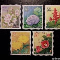 Sellos: JAPÓN YVERT 3042/6 SERIE COMPLETA USADA. 2001. FLORA. FLORES. PREFECTURA DE TOKIO. Lote 221929113