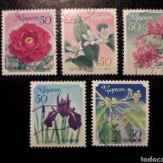 Sellos: JAPÓN YVERT ? SERIE COMPLETA USADA. 2010 FLORA. FLORES.. Lote 222056312