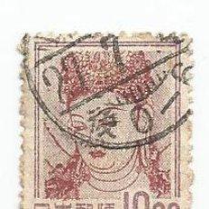 Sellos: SELLO USADO DE JAPON DE 1951- PINTURA MURAL- YVERT 498- VALOR 10 YEN. Lote 234109425