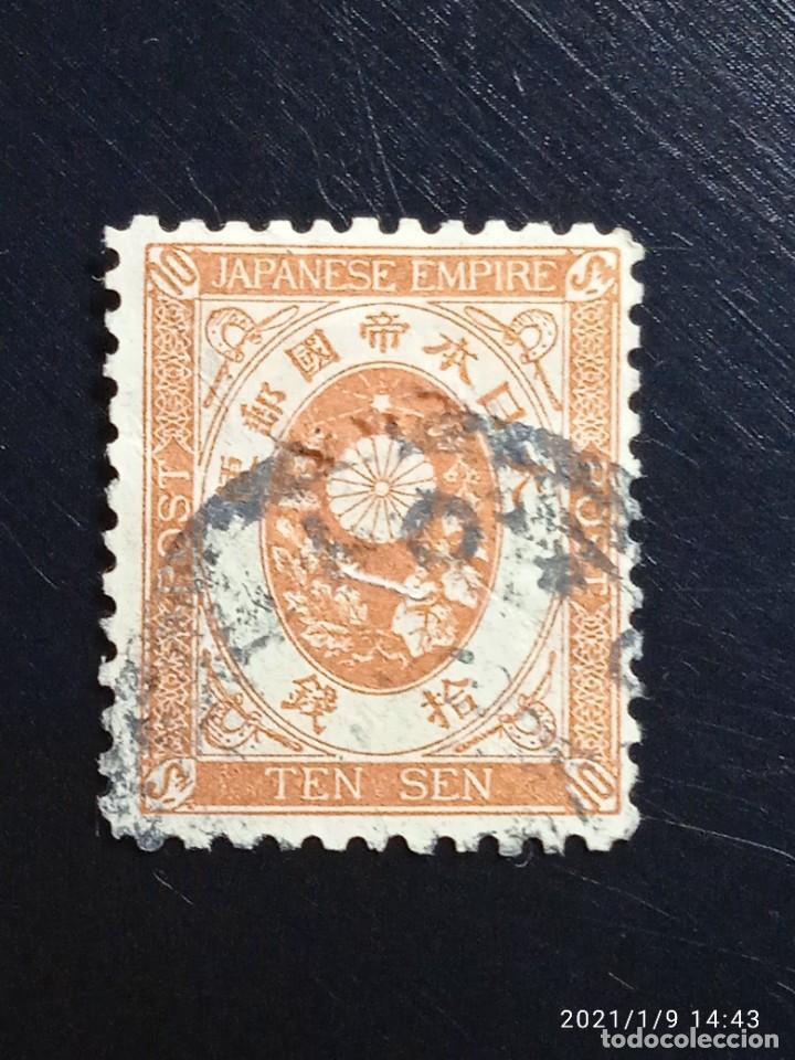 JAPON IMPERIAL 10 SEN, AÑO 1888 USADO.. (Sellos - Extranjero - Asia - Japón)