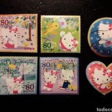 Sellos: JAPÓN YVERT ? SERIE COMPLETA USADA 2009. HELLO KITTY. DIBUJOS ANIMADOS. PEDIDO MÍNIMO 3 €. Lote 236629915