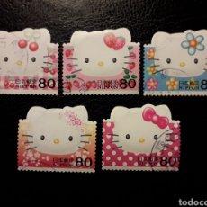 Sellos: JAPÓN YVERT 3473/7 SERIE COMPLETA USADA 2004. HELLO KITTY. DIBUJOS ANIMADOS. PEDIDO MÍNIMO 3 €. Lote 236675445