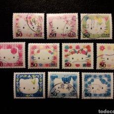 Sellos: JAPÓN YVERT 3478/87 SERIE COMPLETA USADA 2004. HELLO KITTY. DIBUJOS ANIMADOS. PEDIDO MÍNIMO 3 €. Lote 236675875