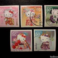 Sellos: JAPÓN YVERT ? SERIE COMPLETA USADA 2011. HELLO KITTY. DIBUJOS ANIMADOS. PEDIDO MÍNIMO 3 €. Lote 236810530
